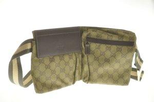 Gucci Bolsa de hombro marrón fibra textil