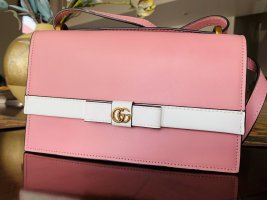 GUCCI GG Marmont Shoulder Handbag Pink White Leather Japan Limited 4326800
