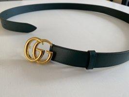 Gucci Cintura di pelle petrolio Pelle