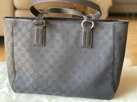 Gucci GG Monogram Canvas Tote black leather