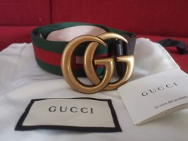 Gucci Cintura di pelle verde