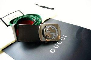 Gucci Cintura in tessuto multicolore