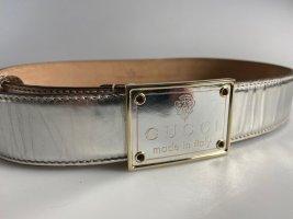Gucci Cinturón de cuero color plata Cuero
