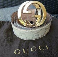 Gucci Ceinture en cuir beige clair-crème
