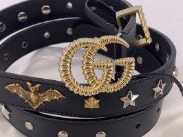 Gucci Gürtel Leder schwarz Große -95cm