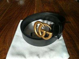 Gucci Gürtel Marmont schwarz / Gold