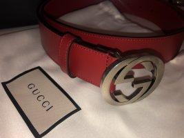 Gucci Ceinture en cuir rouge