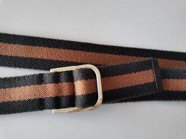Gucci Ceinture en tissu brun noir-cognac coton