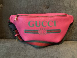 Gucci Bumbag raspberry-red-black leather