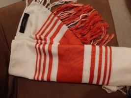 Gucci Sciarpa con frange bianco sporco-arancione scuro