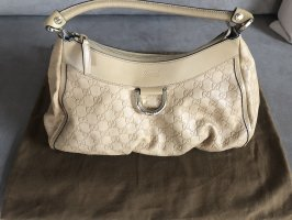 Gucci Carry Bag beige leather