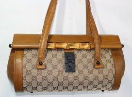 Gucci Handbag light brown-bronze-colored linen
