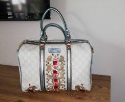 Gucci Sac à main blanc-rouge brique