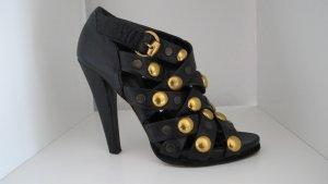 """""""GUCCI"""" High Heels Sandaletten Schwarz /Gold Gr. 37C NP 1.195$ !!"""