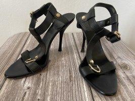 Gucci Leder Sandalen/ Sandaletten/ High Heels