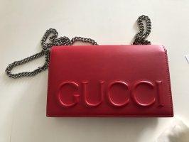 Gucci Minitasje donkerrood Leer