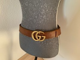 Gucci Leather Belt cognac-coloured-russet leather