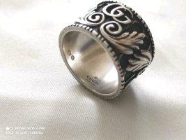 Gucci Zilveren ring zilver-zwart Gemengd weefsel