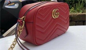 Gucci Marmont Mini Crossbody-Tasche aus Leder