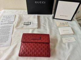 Gucci Portafogli oro-rosso scuro
