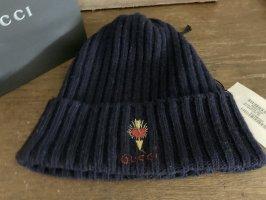 Gucci Sombrero de punto azul oscuro