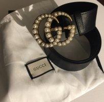 Gucci Cintura in ecopelle nero-oro