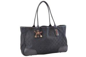 Gucci Sac porté épaule noir fibre textile