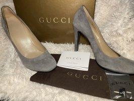 Gucci Pumps Guam Größe 41 Grau Nero
