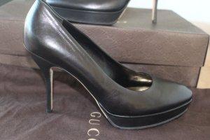 Gucci Pumps, Leder, schwarz, elegant