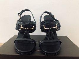 Gucci Plateauzool sandalen zwart-goud