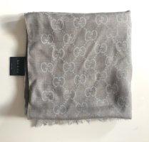 Gucci Sciarpa di seta grigio chiaro-argento