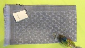 Gucci Wełniany szalik błękitny Wełna