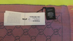 Gucci Fringed Scarf pink wool