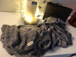 Gucci Silk Scarf grey