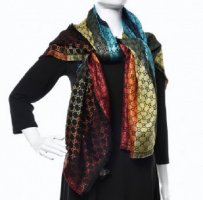 Gucci Fringed Scarf multicolored wool