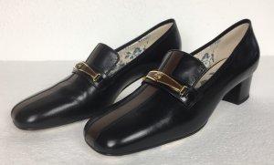 Gucci Scarpa slip-on nero-marrone
