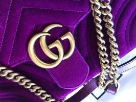 Gucci Sac porté épaule violet velours