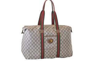 Gucci Bagage blanc fibre textile