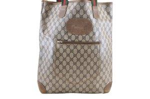 Gucci Bolso de compra marrón fibra textil