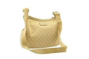Gucci Bolsa de hombro amarillo fibra textil