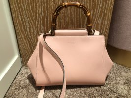 Gucci Small Bamboo Nymphaea Leather Satchel