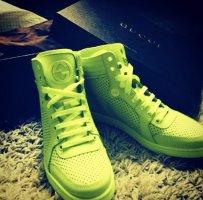 Gucci High top sneaker geel-sleutelbloem