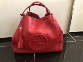 Gucci Shopper red-brick red leather