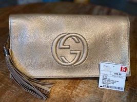 Gucci Soho Metallic Leather Clutch