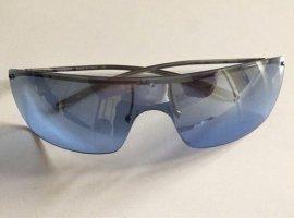 Gucci Occhiale da sole spigoloso argento-blu