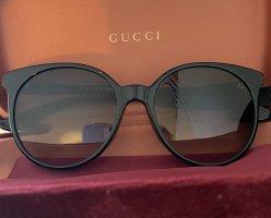 Gucci Lunettes de soleil rondes noir-doré