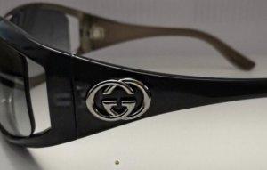 Gucci Gafas de sol ovaladas negro-azul oscuro