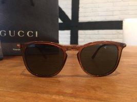 Gucci Kwadratowe okulary przeciwsłoneczne brązowy