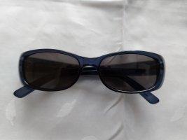Gucci Angular Shaped Sunglasses dark blue-grey