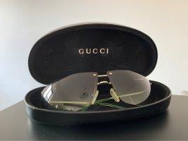 Gucci Gafas de sol cuadradas verde neón-verde bosque metal